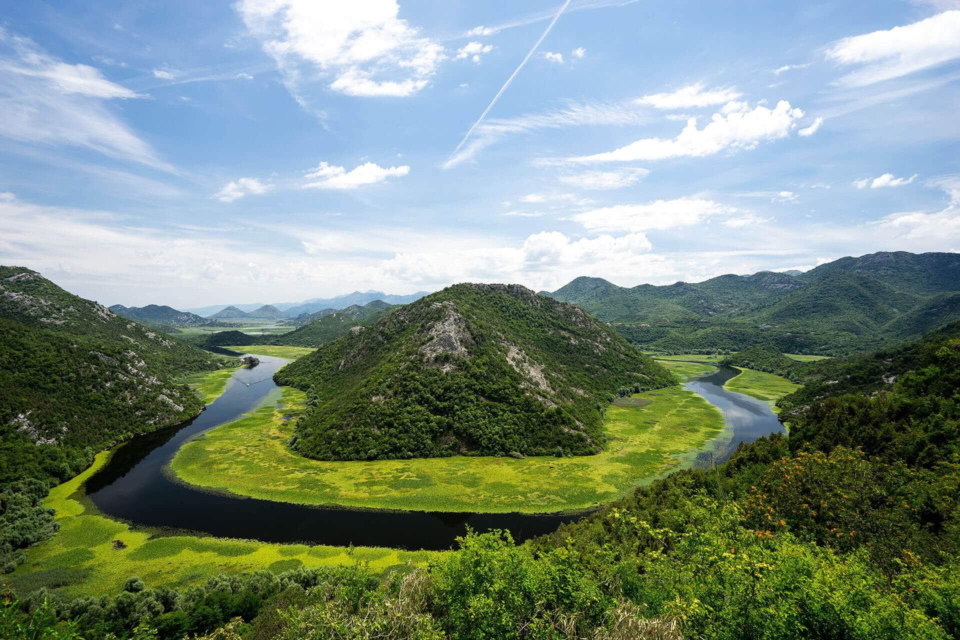 Panoramic tour in Skadar lake region