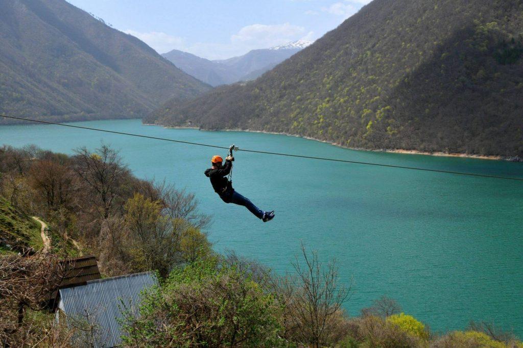 Zip line Pluzine 1400m, Balkan Adventure