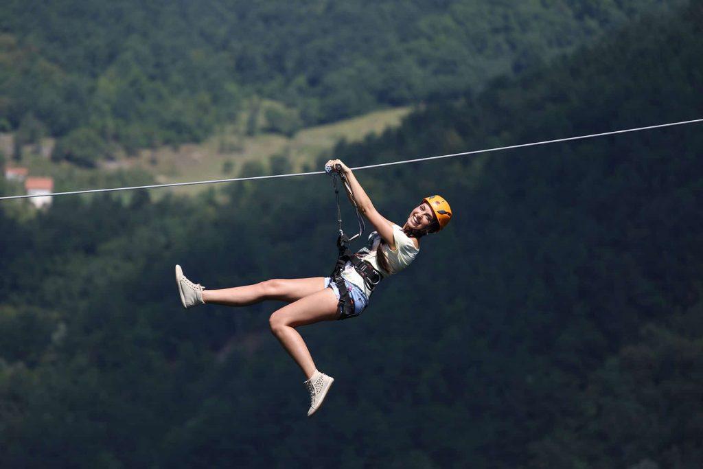 Zip line Tara 350m, Balkan Adventure